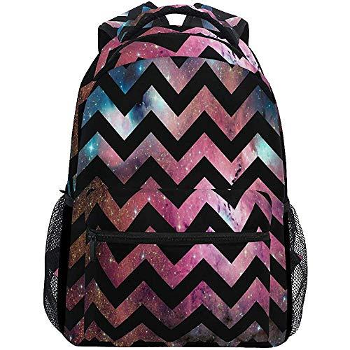 Tas voor school, model A Zig-Zag op bonte rugzakken, schoudertas, laptoptas, reistas, school, voor heren en dames