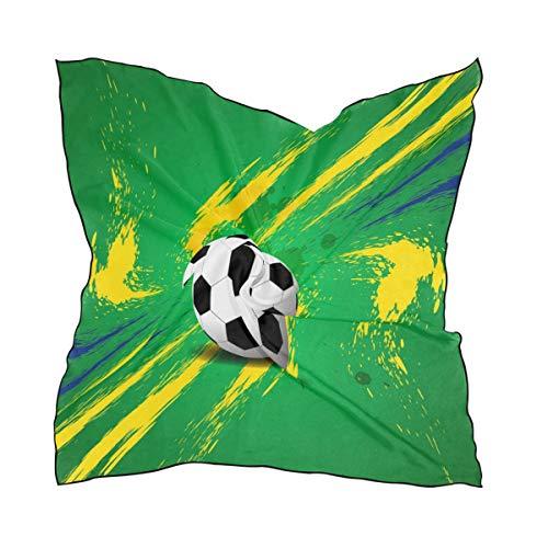 DOSHINE Schal aus Seide, für Fußball, Sport, leicht, weich, durchsichtig, für Damen und Mädchen