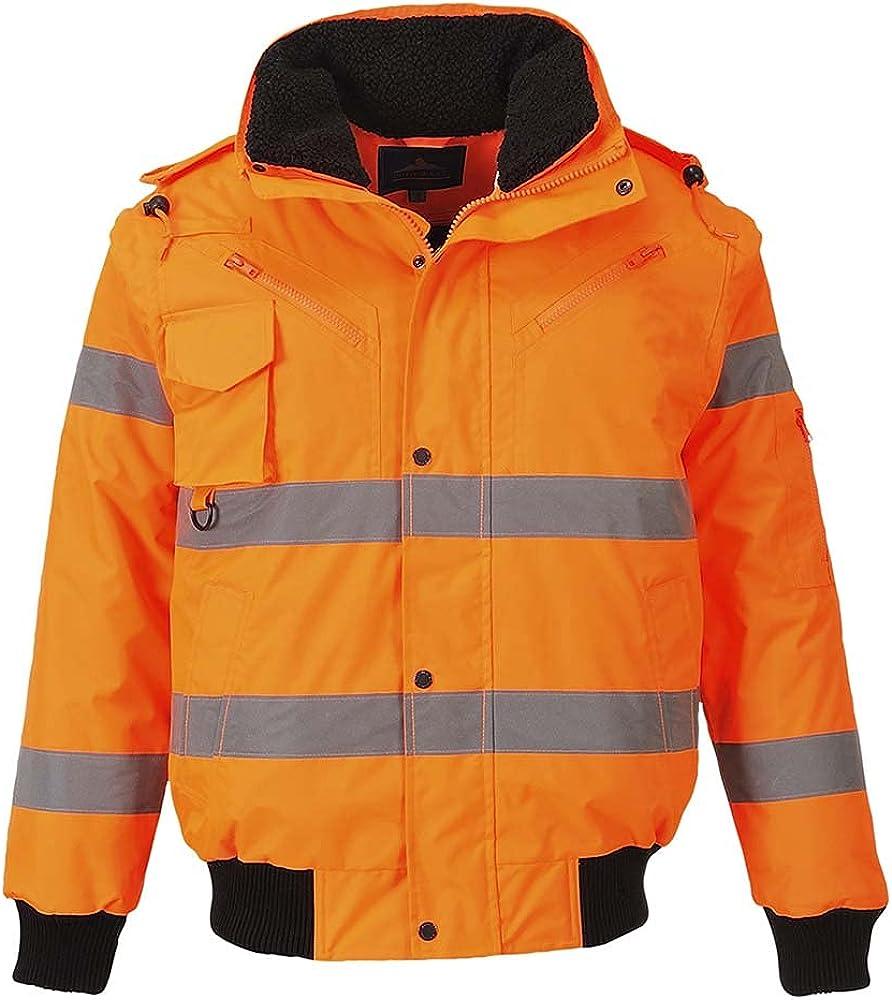 Direct sale of manufacturer Portwest Workwear Mens Hi-Vis 3 Bomber in Jacket 1 Special price