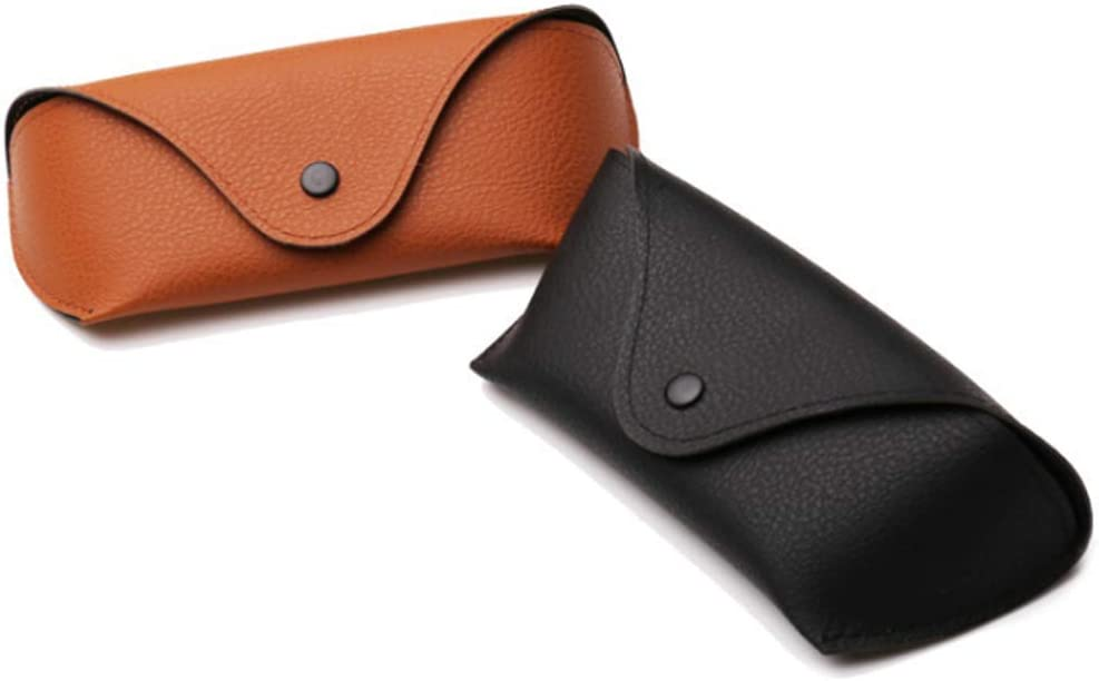 2 Pcs Glasses Case Portable Oxford Cloth Sunglasses Case Horizontal Eyeglass Case with Snap Button Closure for Women and Men