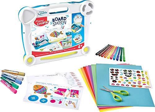 Maped Creativ Board Essentials Kit Pizarra Negra y Blanca, Multicolor (907102) (Productos de oficina)