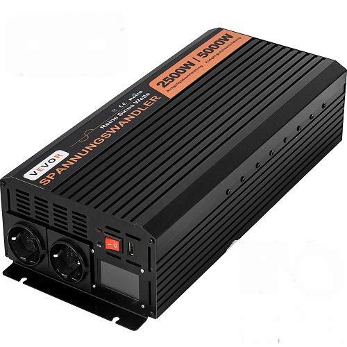 OldFe 230V Reiner Sinus Wechselrichter Spannungswandler 2500W Reiner Sinuswellen Wechselrichter 24V DC Pure Sine Wave Power