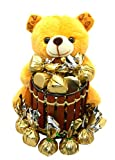 Rich'U Chocolates - Chocolate Gift Pack Combo - Soft Teddy Bear Pen-Stand (1 Pc) with Chocolates (12...