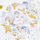 PMSMT 45 Stück/Los Nettes Tierpapier Journal Tagebuchaufkleber Scrapbooking Flakes Siegeletiketten Schreibwaren Schulmaterial