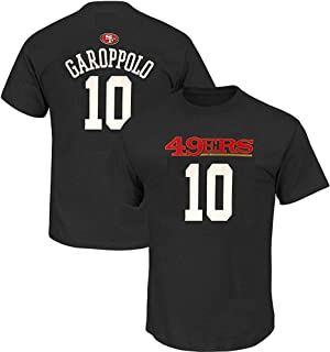 Jimmy Garoppolo San Francisco 49ers NFL Boys Youth 8-20 Black Alternate Official Player Name & Number T-Shirt (Youth Medium 10-12)