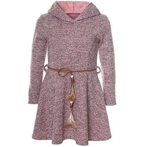 BEZLIT Mädchen Kleid Kostüm Kapuze Peticoat Festkleid Langarm 21578 Rosa Größe 140