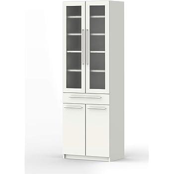 パモウナ 食器棚YC プレーンホワイト 幅60×高さ180×奥行40 日本製 YC-S600K