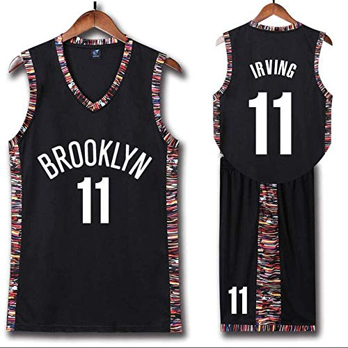 MMW Basketball Uniform Brooklyn Nets 11 Kevin Durant und Kyrie Irving Sommer Sport NBA Trikot Erwachsene und Kinder Basketballuniformen Basketballtrikot Top inkl.Shorts,11,S