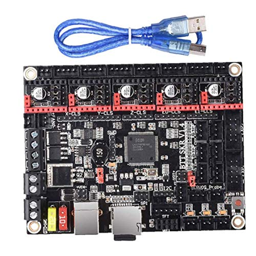 3D Printer Motherboard SKRV1.3 Black 32-bit CPU Processor Control Motor Driver Assembly Accessory Christmas for Installation
