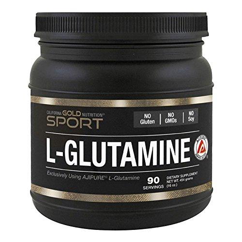 California Gold Nutrition, L-Glutamine Powder, AjiPure, 16 oz (454 g), Milk-Free, Egg-Free, Fish Free, Gluten-Free, No Artificial Colors, Soy-Free, Sugar-Free, Vegetarian, Wheat-Free, CGN