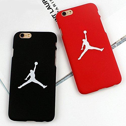 Megastore4 Air Jordan iPhone 7 Plus (5,5 Zoll) custodie e Cover Telefono Caso della Copertura della Pelle della Copertura (Rosso)