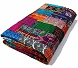 Manglam Arts Patchwork-Tagesdecke