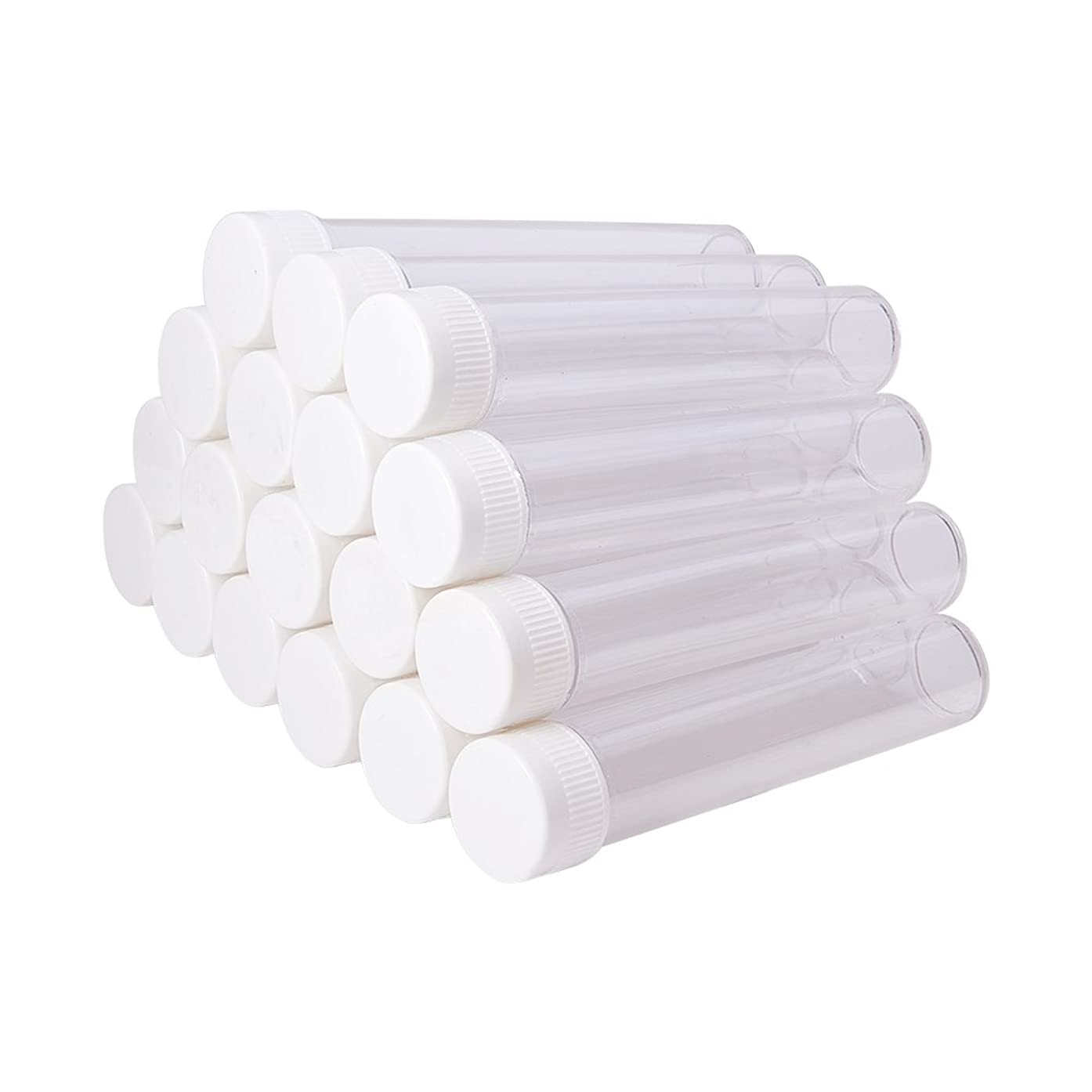 PH PandaHall 30 PCS Clear Plastic Tube Bead Containers Large Storage Tubes 130x25mm (Diameter 0.98