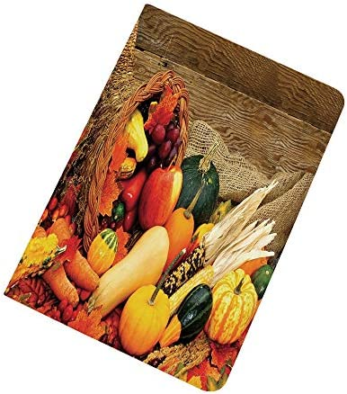 Harvest iPad Air 2 iPad Air Case Thanksgiving Related Foods Scattered on Wooden Table Vegetables product image