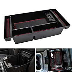 【Fitment】Attractive Red trim, Fits 2019 Chevy Silverado 1500 / GMC Sierra 1500 and 2020 Chevy Silverado 1500/2500/3500HD / GMC Sierra 1500/2500/3500 HD - Full Center Console Models/ Bucket Seats ONLY. GM Accessories 84106530 【Doesn't Fit】 2015-2019 C...
