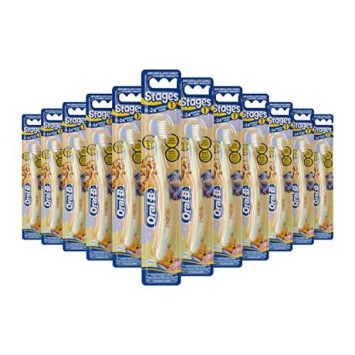 Oral-B Baby Winnie Pooh Handzahnbürste mit besonders weichen Borsten, für Babys von 0-2 Jahren, 12er Pack (12 x 1 Stück)