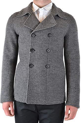 Luxury Fashion | Armani Collezioni Heren MCBI39257 Grijs Wol Mantels | Seizoen Outlet