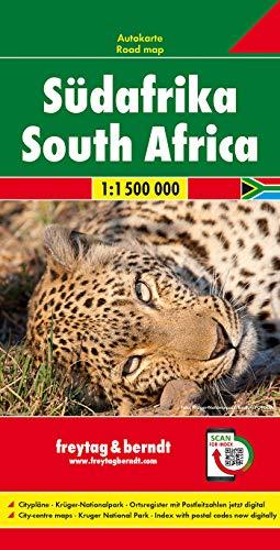Südafrika, Autokarte 1:1,5 Mio.: Wegenkaart 1:1 500 000 / 1:400 000 (freytag & berndt Auto + Freizeitkarten)