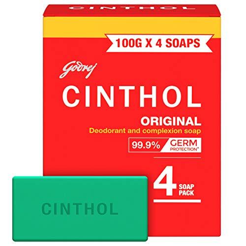 Cinthol Original Bath Soap – 99.9% Germ Protection, 100g (Pack of 4)