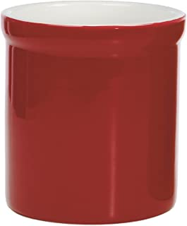 Progressive- Prepworks Ceramic Tool Crock - Utensil Kitchen Organizer - Red