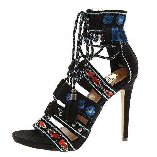 Zapatos Mujer Sandalias Exe Silvia Negro 39