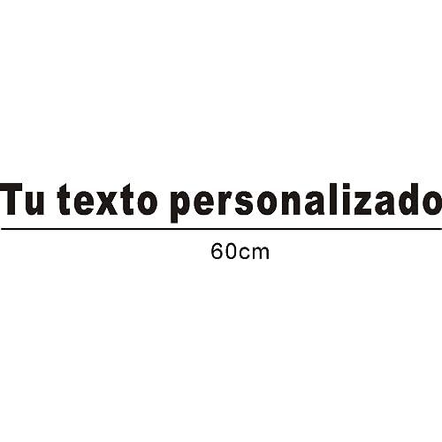 Pegatina Vinilo Personalizado con tu texto - Vinilo decorativo pegatina coche, pared, cristal, puerta, medida 60cm de largo: Amazon.es: Coche y moto