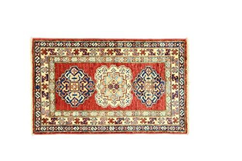 Eden Carpets Kazak Super mollen, wol, meerkleurig, 55 x 88 cm