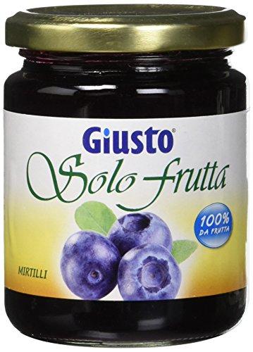 Giusto Solo Frutta Marmellata Mirtillo senza Zucchero - 284 g