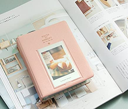 Royare Approx 64 Pockets Polaroid Fuji Film Instax Film Size Photo Mini Album Case Storage (pink)