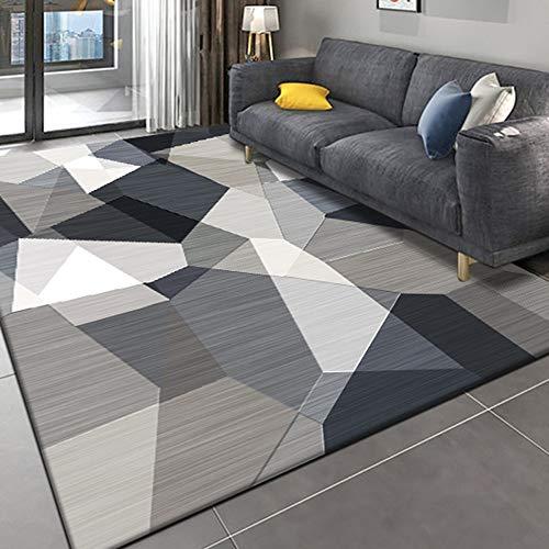 Alfombra moderna para salón de diseño sencillo con motivos geométricos de Ikea para decorar el salón, el dormitorio, el exterior, el pelo corto y las alfombras antideslizantes