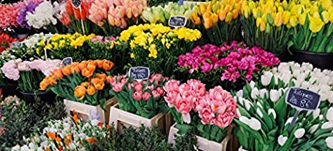 Wooden Photo Jigsaw Puzzle for Adults - French Flower Market - 122 Unique Pieces by Nautilus Puzzles