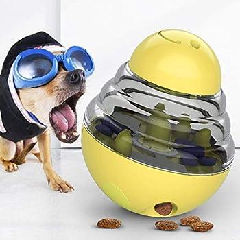 🐕Jouet de balle ballIQ Treat: Remplissez la balle avec les friandises préférées de votre animal. Répondez à son instinct de chasse en trouvant de la nourriture en jouant tout en développant et en maintenant la vivacité physique de votre chien. 🐕Mater...