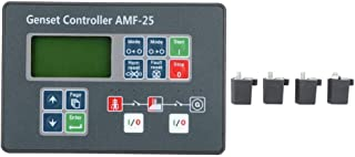 Controlador de grupo electrógeno, pantalla de control de autoencendido del controlador de grupo electrógeno AMF-25 para generador diesel DC 8-35V