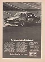 """1973 CHAMPION SPARK PLUGS with RACING CAMARO """" Two weekends in June. """" VINTAGE NON-COLOR AD - USA - GREAT ORIGINAL !! (CHV)"""