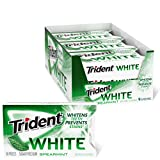 Trident White Spearmint Sugar Free Gum, 9 Pack of 16 Pieces (144 Total Pieces)