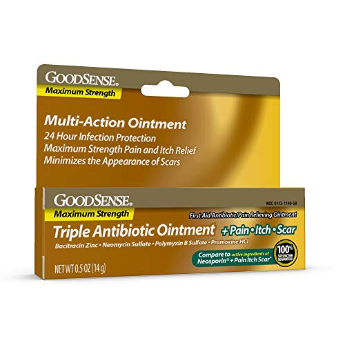 Good Sense Pain & Scar Ointment for Minor Cuts/Scrapes/Burns, 0.5 Oz