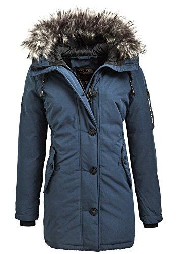 Khujo Mary Gr. XL Damen Parka Winterjacke Jacke blau mid blue Gr. XL