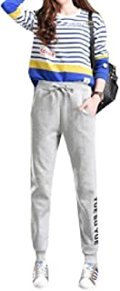 Fieer Womens All-Match Casual Thin Elastic Bottom Lounge Workout Running Pants Long Pants Jean Trousers