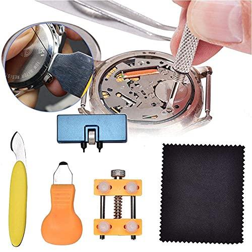 ROM Kit de Herramientas de reparación de Relojes de 5 Piezas para la Correa de Reloj Que Quita la Apertura de la Caja del Reloj, Herramienta de reparación de la Correa de rel