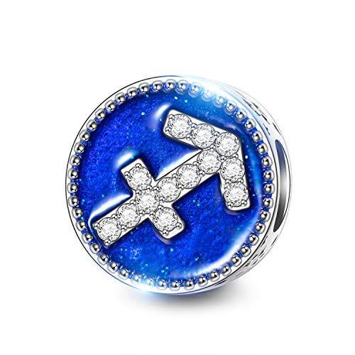 NINAQUEEN Charm für Pandora Charms Armband Schütze Sternzeichen Geschenk für Frauen Silber 925 Zirkonia Schmuck Damen mit Schmuckkasten