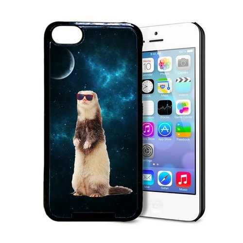 Hipster Space Ferret iPhone 5c Case - Fits iPhone 5c