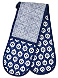 Image of Clay Roberts Double Oven Glove, Deep Blue, Kitchen Gloves, Home Cooking & Baking Pot Holders