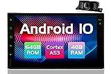 Autoradio 2 Din Android Stereo Auto Bluetooth Doppio Din Radio Macchina con 7 Pollici Schermo e Navigatore GPS 2din Car Stereo supporto Telecamera Posteriore WIFI Vivavoce Microfono USB TF (4GB+64GB)
