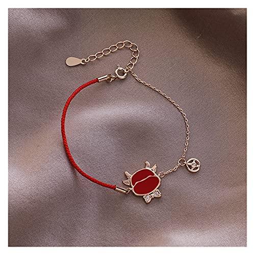 YINGNBH Pulsera 2021 Coreano Nuevo Lucky Red String Cadena Cadena de Cadena Charm Pulsera para Mujeres Moda Bijoux Pulseras y Brazaletes