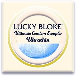 LUCKY BLOKE Luxury Thin Condoms - International ULTRA THIN Condom Sampler - World's Best Thin Condoms (variety 12 pack): Trojan, Okamoto, Kimono, Crown, Naked Luxury