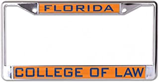 Wincraft University of Florida Levin College of Law License Plate Frame, Metal with Inlaid Acrylic, 2 Mount Holes, Orange