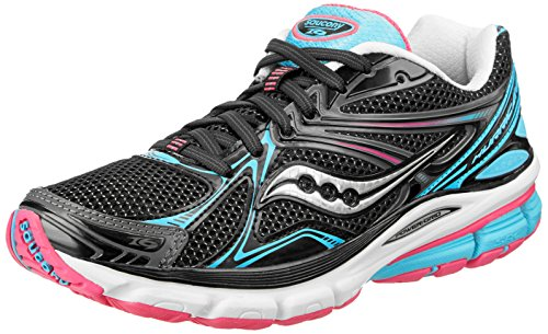 Saucony Women's Hurricane 16 Running Shoe,Black/Blue/Pink,5 M US