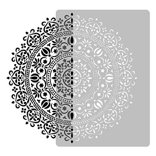 Plantilla reutilizable de plástico // Diámetro 59 cm // geométrica – Mandala # 1 – círculo – flor // Modelo de pintura // Decoración de pared