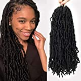 Best Hair For Crochet Braids - HAPPYCC 18 Inch Nu Faux Locs Crochet Hair Review