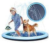 NC Almohadilla de aspersor JMT, Piscina para niños, Juguetes acuáticos inflables, Perros y Gatos, Piscina al Aire Libre, 150 CM para Mascotas y niños